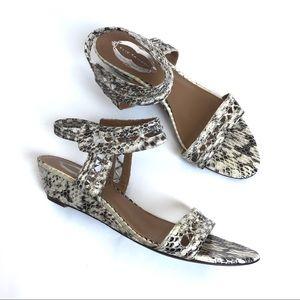 Ellie Tahari Ankle Wrap open toe snake sandals 40